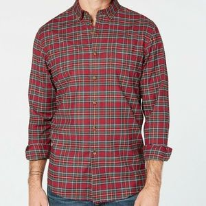 Club Room Mens Maxwell Red Tartan Plaid Stretch